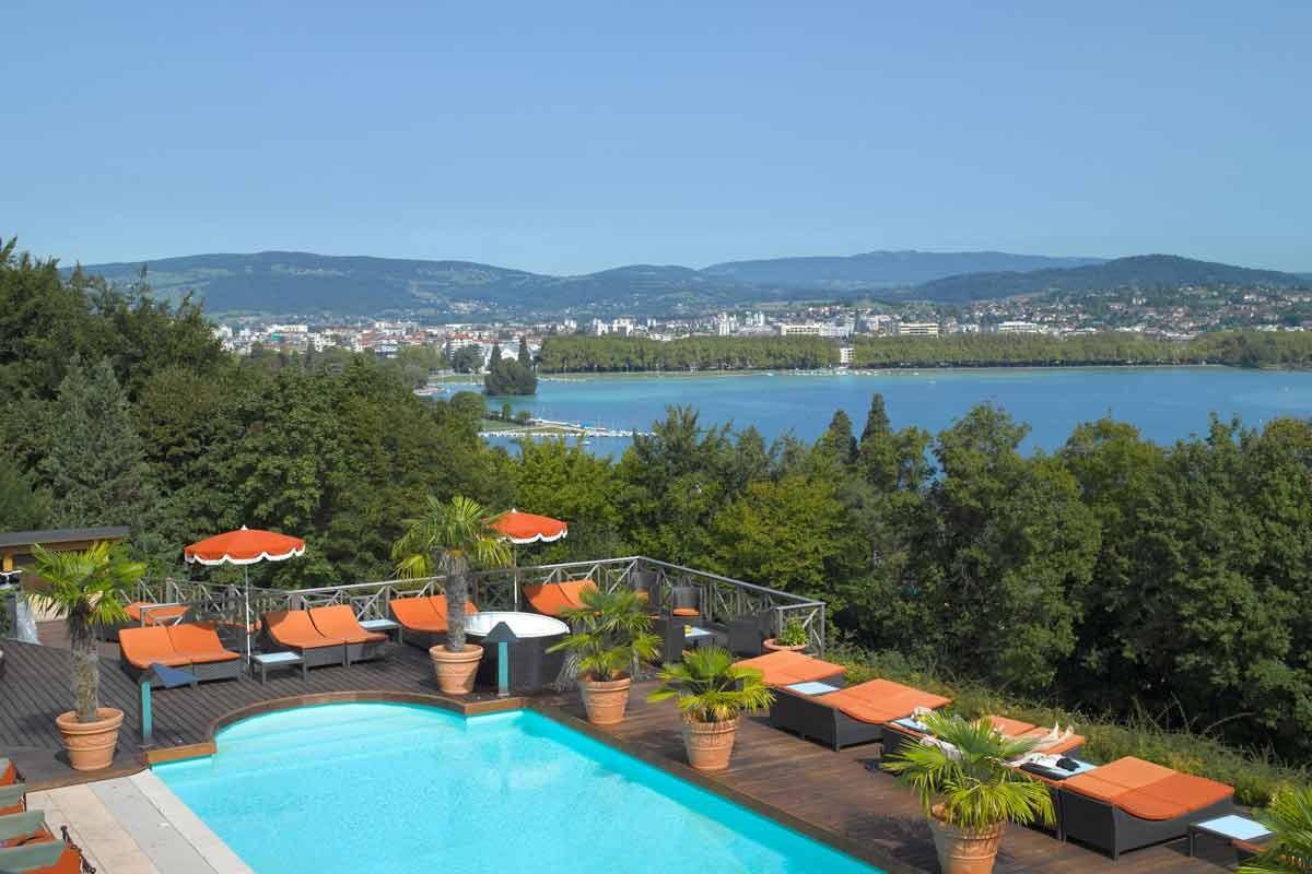 Hotel les tresoms et spa forfaits saint valentin for Forfait piscine