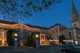 Hôtel Hermitage - Facade de l'hôtel, de Nuit