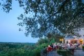 Hôtel l'Yeuse & Spa - Terrasse en début de soirée