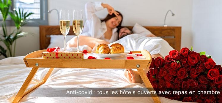hôtels ouverts avec repas en chambre