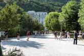 Résidence Radiana Appart Hôtel Rive droite - La Léchère parc thermal l'été