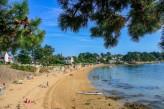 l'île aux Moines : Grande plage - traversée en 5 min depuis le Port Blanc situé sur la commune de Baden à 70km de l'hôtel le Roi Arthur @Loic KERSUZAN