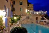 Hostellerie Bérard & Spa - Vue piscine nuit