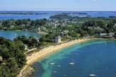 Ile aux Moines : Vue aérienne de la Grande Plage – traversée en 5 min depuis le Port Blanc situé sur la commune de Baden à 70km de l'hôtel le Roi Arthur @LE-GAL-Yannick