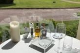 Manoir de la Poterie & Spa - Table du Restaurant avec vue sur le parc