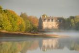 Forêt de Brocéliande : Vue sur le château de Comper à Concoret situé 28km de l'hôtel le Roi Arthur @BERTHIER-Emmanuel